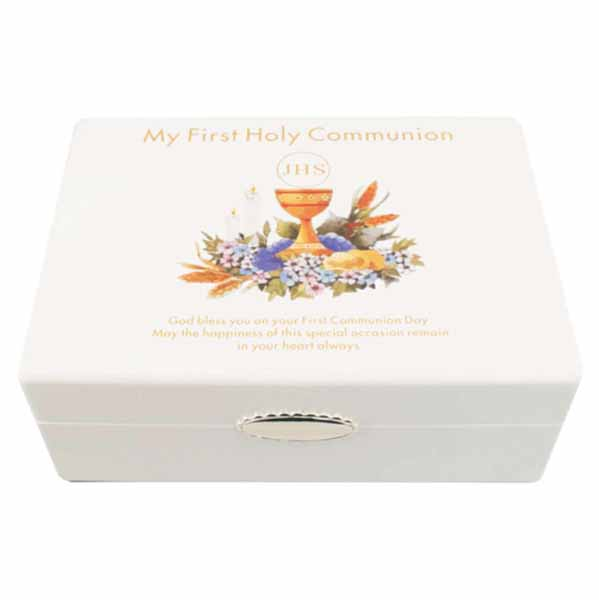 First Holy Communion Wooden Keepsake Box - First Holy Communion Gifts