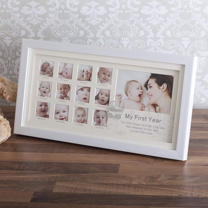 My First Year White Collage Photo Frame - Photo Frame Gifts