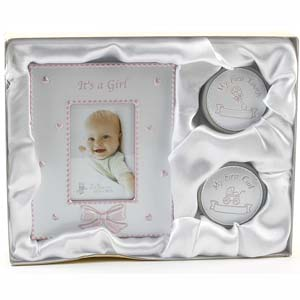 First Tooth & Curl Frame Set - Its a Girl - Frame Gifts