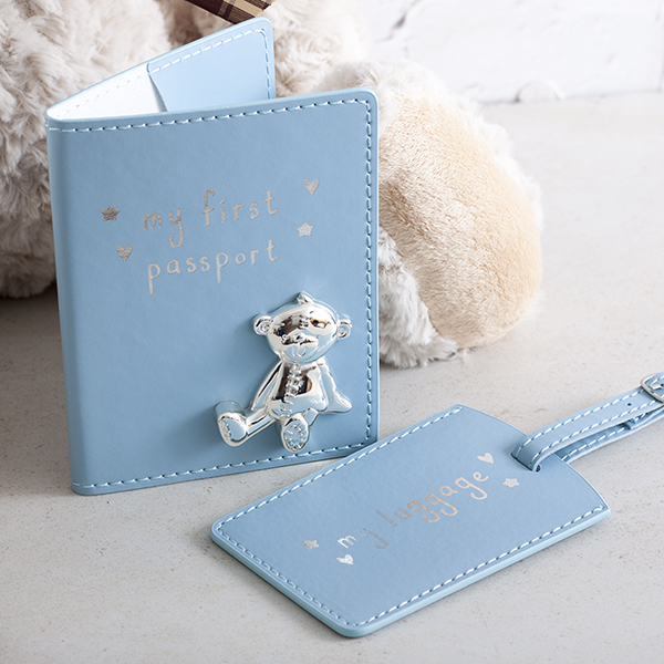 My First Passport And Luggage Tag Set Blue - Passport Gifts