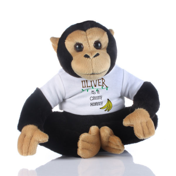 Personalised Cheeky Monkey Soft Toy - Monkey Gifts