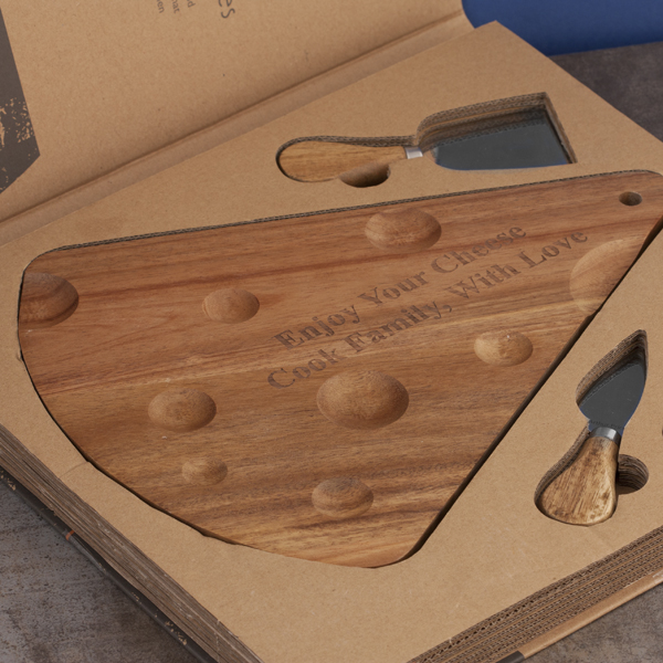 My Deli Personalised Cheese Board and Knife Set - Cheese Board Gifts
