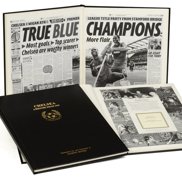 Personalised Chelsea Football Book Non-Embossed - Chelsea Gifts