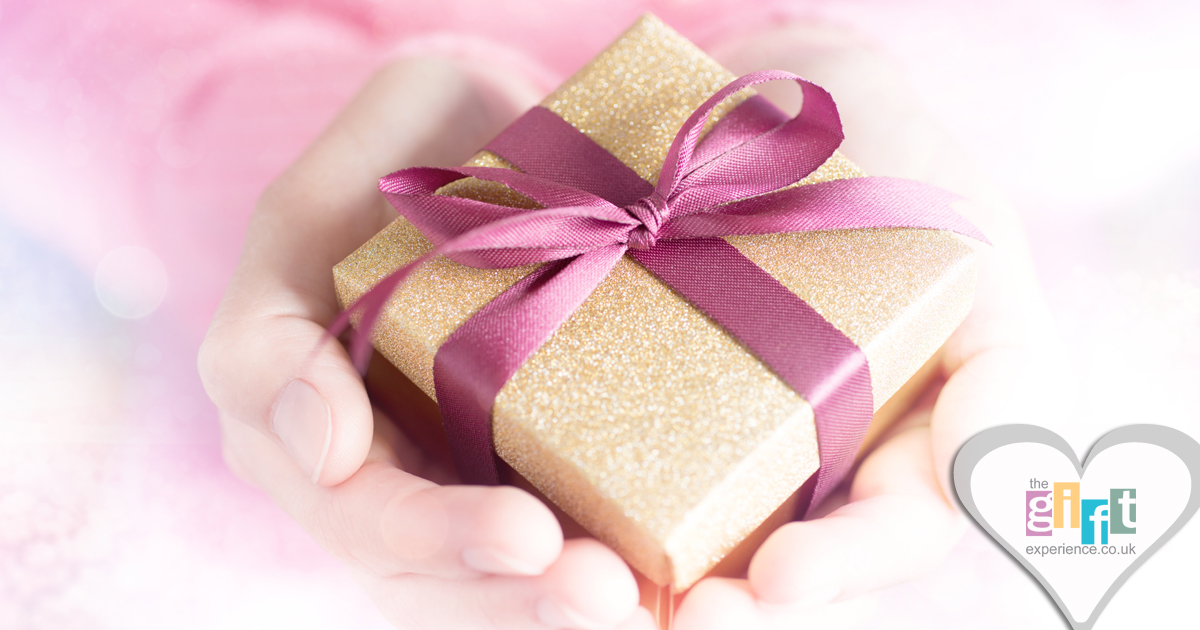 A beuatifully wrapped gift being given