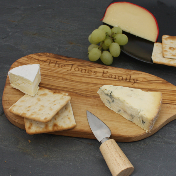 Personalised Chopping Board with Handle Small 34cm - Chopping Board Gifts
