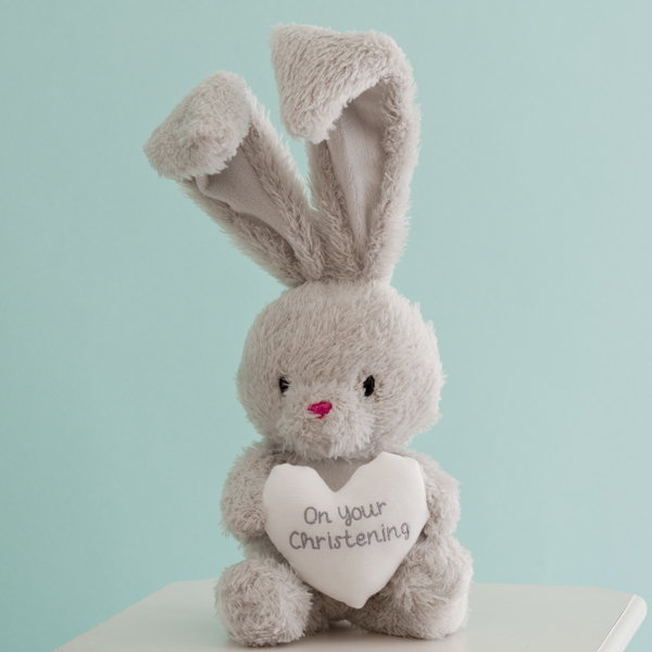 Christening Bebunni Rabbit With Heart - Christening Gifts