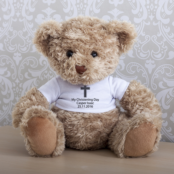 Personalised Christening Teddy Bear