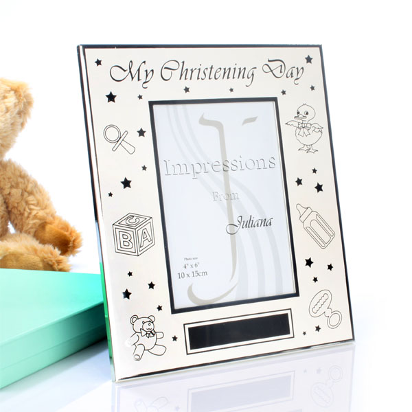 Large Christening Day Personalised Frame
