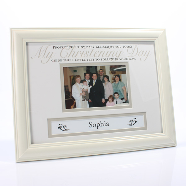 Personalised Christening  Photo Frame - Christening Gifts