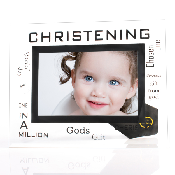 Christening Glass Photo Frame