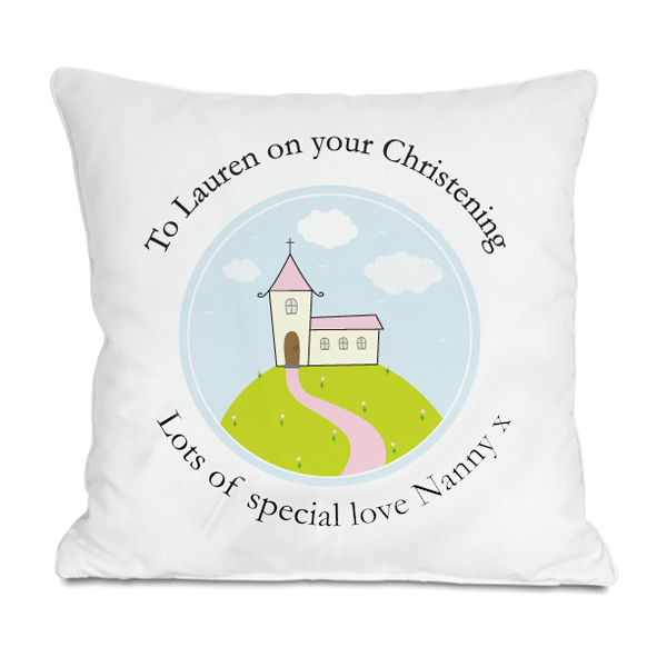 Personalised Girls Christening Cushion - Christening Gifts