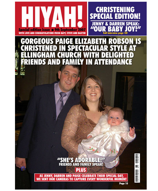 Personalised Christening Magazine Cover Print Only - Christening Gifts