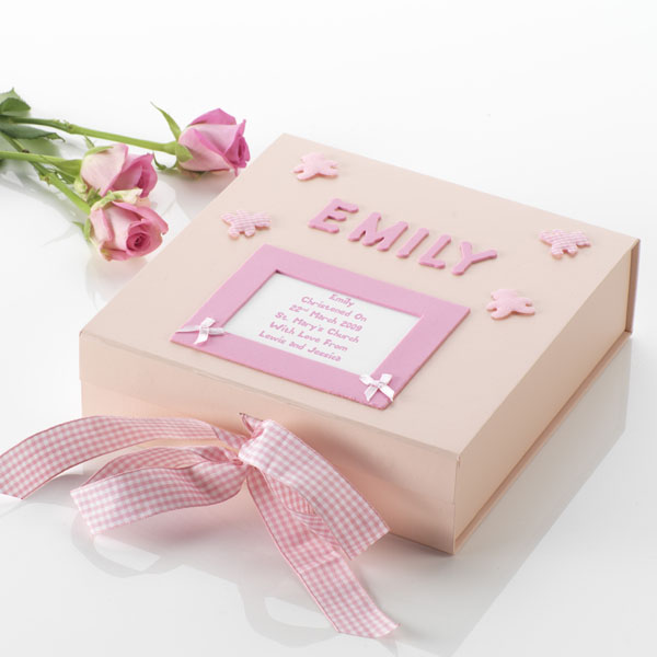 Personalised Christening Memory Box Large - Christening Gifts