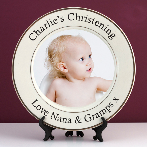 Personalised Christening Photo Plate - Christening Gifts