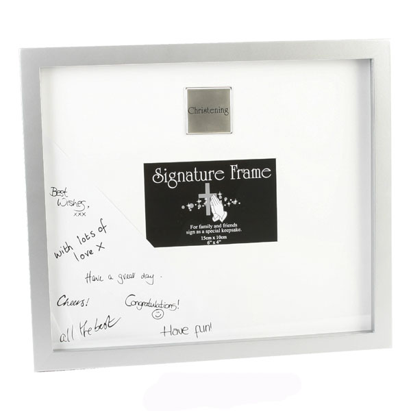 Christening Guests Frame - Christening Gifts