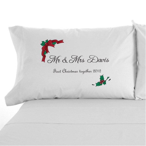 Personalised Christmas Mr & Mrs Pillowcases