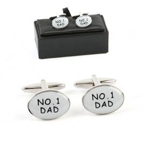 No.1 Dad Cufflinks in Personalised Gift Box - Dad Gifts