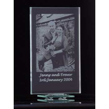 Glass Photo Frame Photo and Text