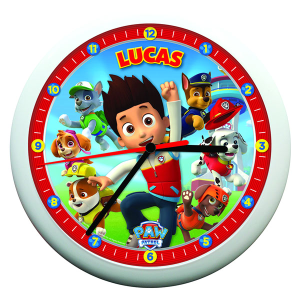 Personalised Paw Patrol Clock