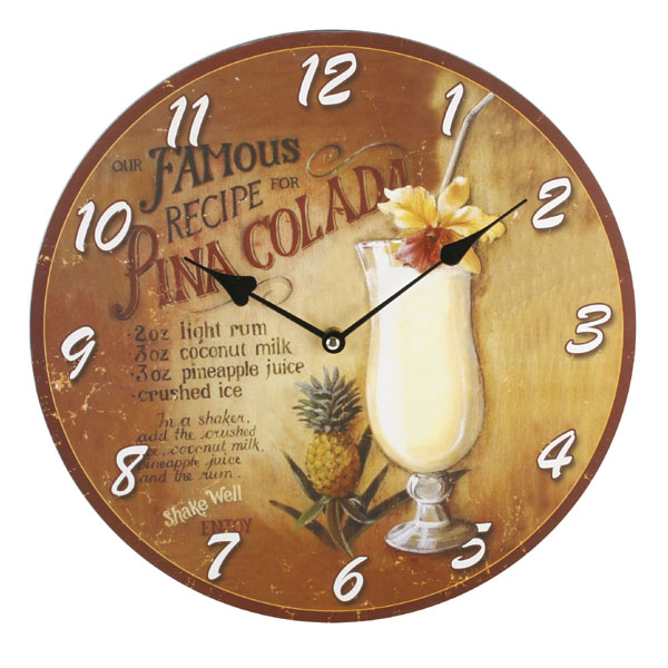 Cocktail Style Wall Clock.