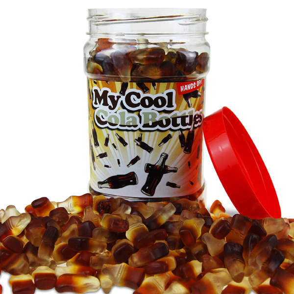 Retro Sweets Cool Cola Bottles Jar - Retro Sweets Gifts