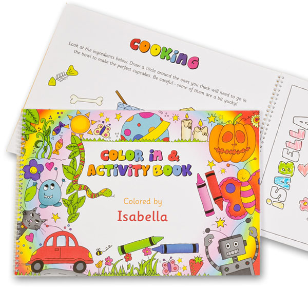 Personalised Colouring Book A3 Colouring Book