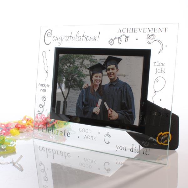 Congratulations Glass Photo Frame - Photo Frame Gifts