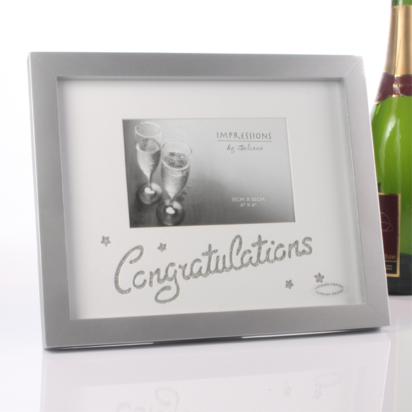 Sparkly Congratulations Photo Frame - Sparkly Gifts