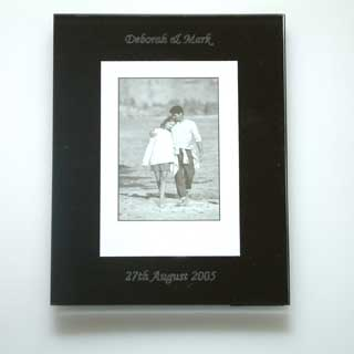Black Glass Photo Frame