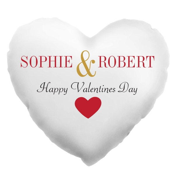 Personalised Valentines Day Heart Shaped Cushion