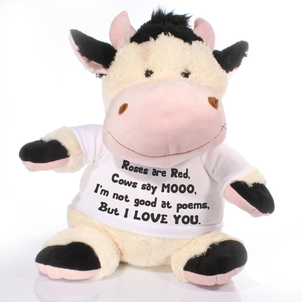 Extra Large Personalised Cow Soft Toy - Cow Gifts