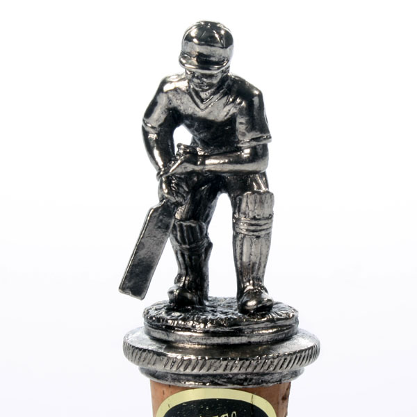 Cricketer Bottle Stopper