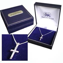 this cross pendant is a simple elegant and tastefull piece of