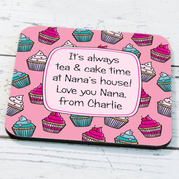 Personalised Cupcake Coaster - Cupcake Gifts