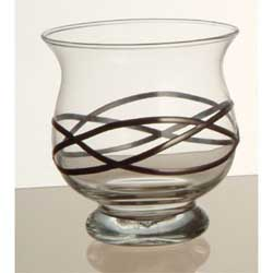 Curvy Candle Holder Clear Lead