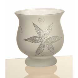 Curvy Candle Holder Frosted Glitter