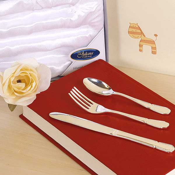 Silver Plated 3 Piece Cutlery Set - Cutlery Gifts