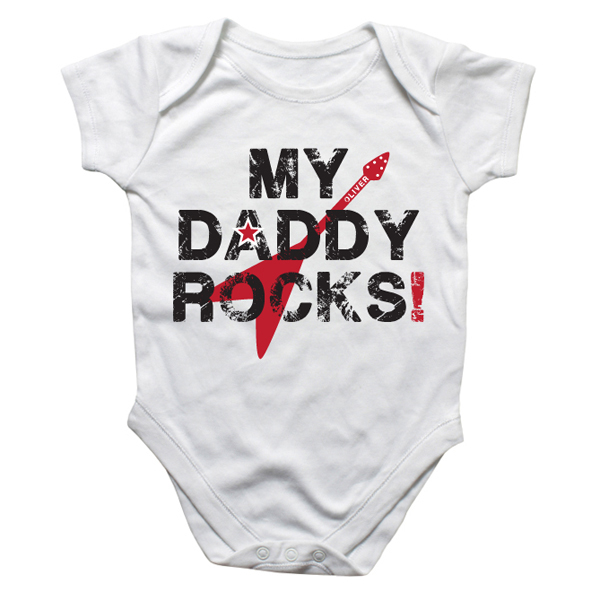 Personalised My Daddy Rocks Baby Grow - Babygrow Gifts