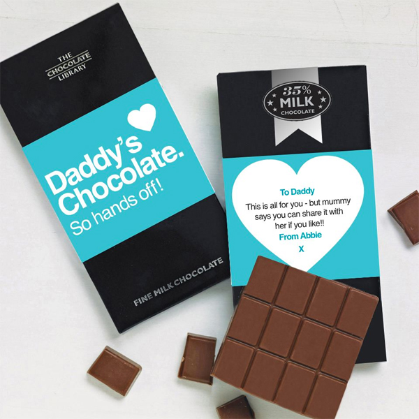 Fathers Day Chocolate Gifts, Personalised Chocolate Bars