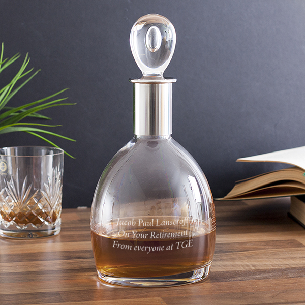 Personalised Dartington Crystal Soren Short Decanter