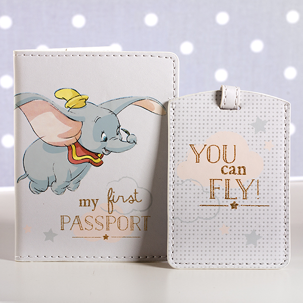 Disney My 1st Passport Holder And Luggage Tag Set - Passport Gifts