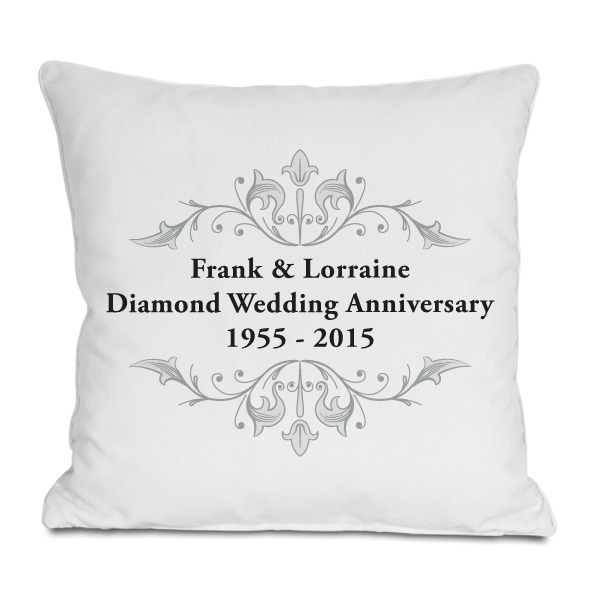 Personalised Diamond Anniversary Cushion
