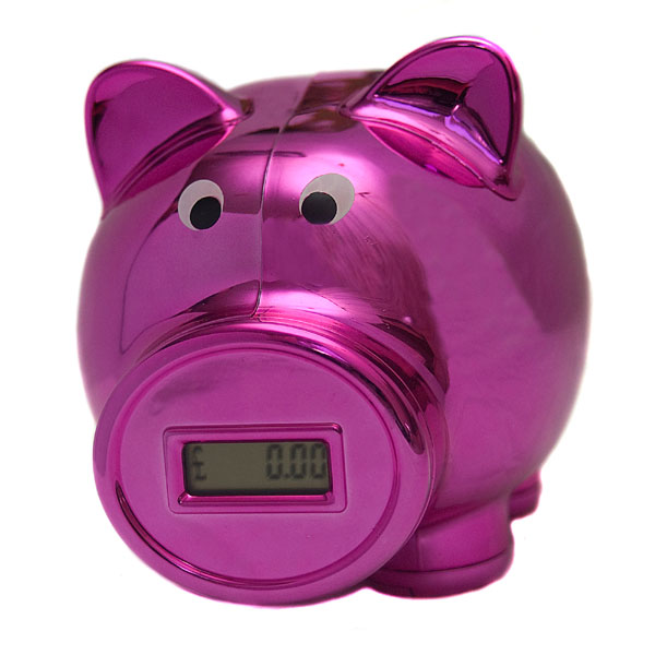 Pink Digital Piggy Bank - Pink Gifts