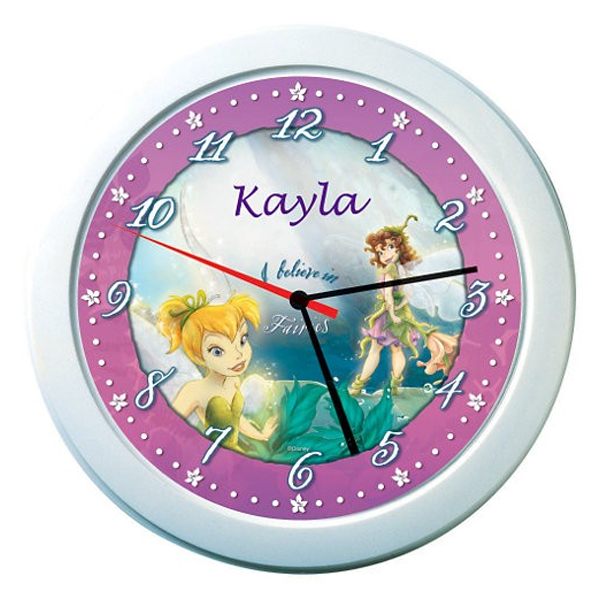 Disney Fairies Personalised Clock - Disney Fairies Gifts