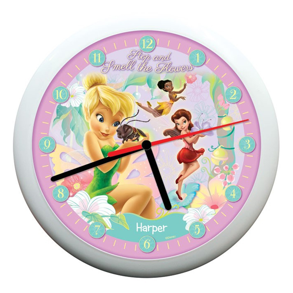 Personalised Disney Fairies Pixie Dust Clock - Disney Fairies Gifts
