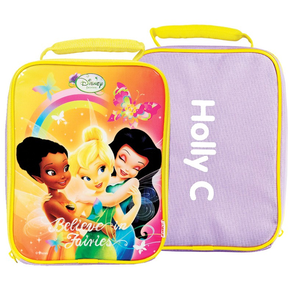 Personalised Disney Fairies Slimline Lunch Bag