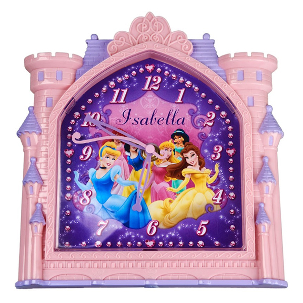 Personalised Disney Princess Castle Clock - Princess Gifts