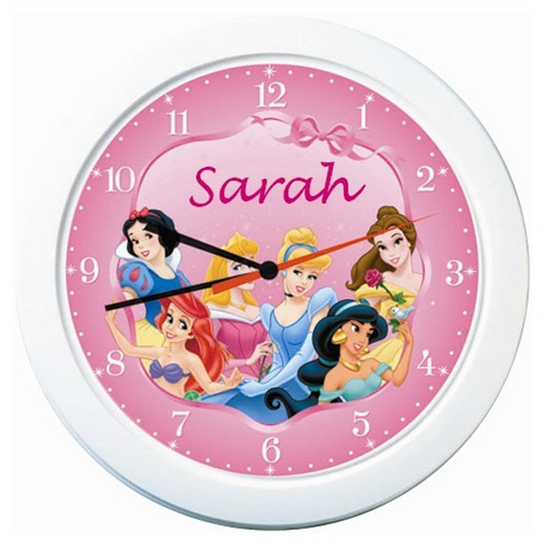 Disney Princess Personalised Clock