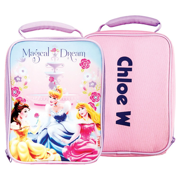 Personalised Disney Princess Slimline Lunch Bag - Children's Birthday Your Kids Bday - 5th Birthday