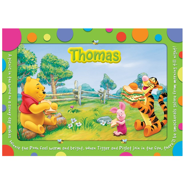 Disney Winnie the Pooh Personalised Placemat